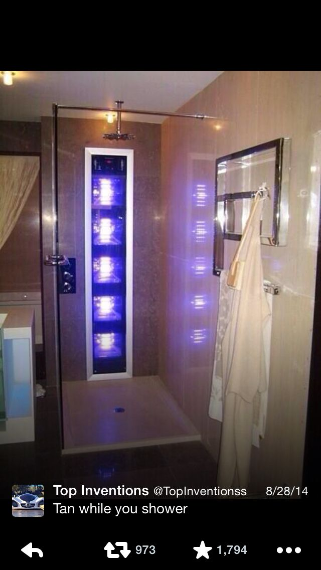 You can tan while you shower