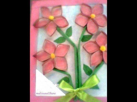 Flores con tubo de papel higienico recicl je - Manualidades con rollos de papel higienico para navidad ...