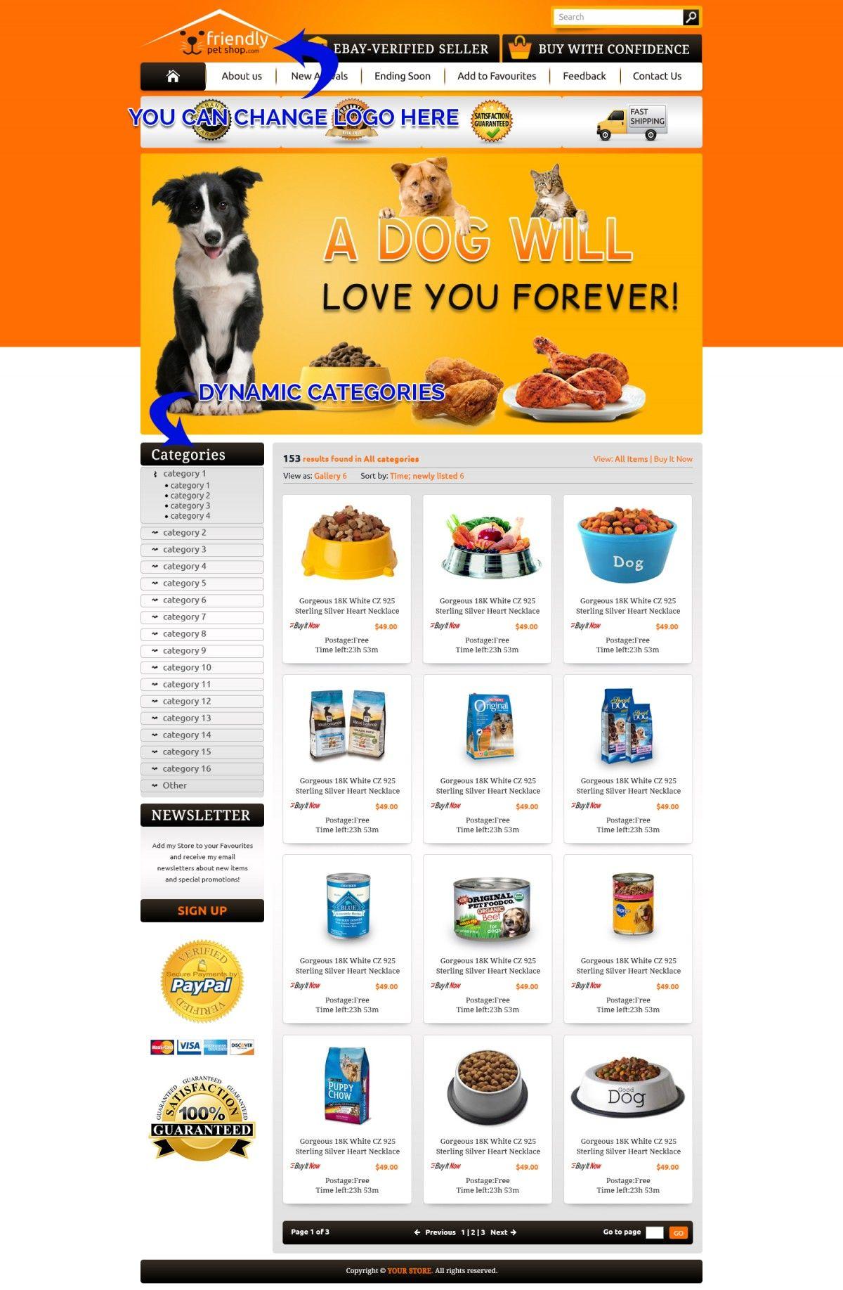 Funny Dog EBay Storefront Template Reasons To Buy EBay - Buy ebay template