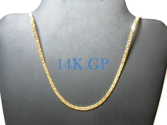 """Use code SOCIAL15 for 15% off all purchases over $15, plus FREE shipping on most jewelry! Gold plated chain necklace, 14K GP with hinged clip clasp, sparkly textured chain. A wardrobe must, just like the little black dress (LBD).    The necklace measures 20"""" (50... #etsygifts #vintage #vjse2 #jewelry #gift"""