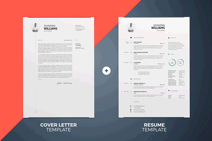 Free Cover Letter Templates For Resumes 20 Beautiful & Free Resume Templates For Designers  Resume Cover