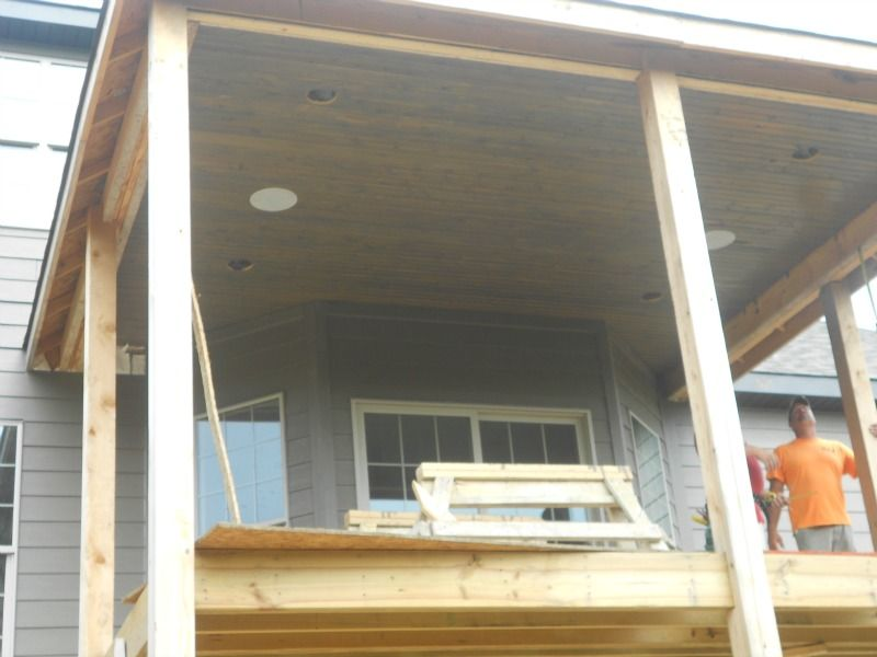 Stained Car Siding Porch Ceilings Porch Ceiling Porch