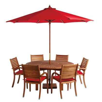 almeria 6 seater round wooden garden furniture set httpwwwuk