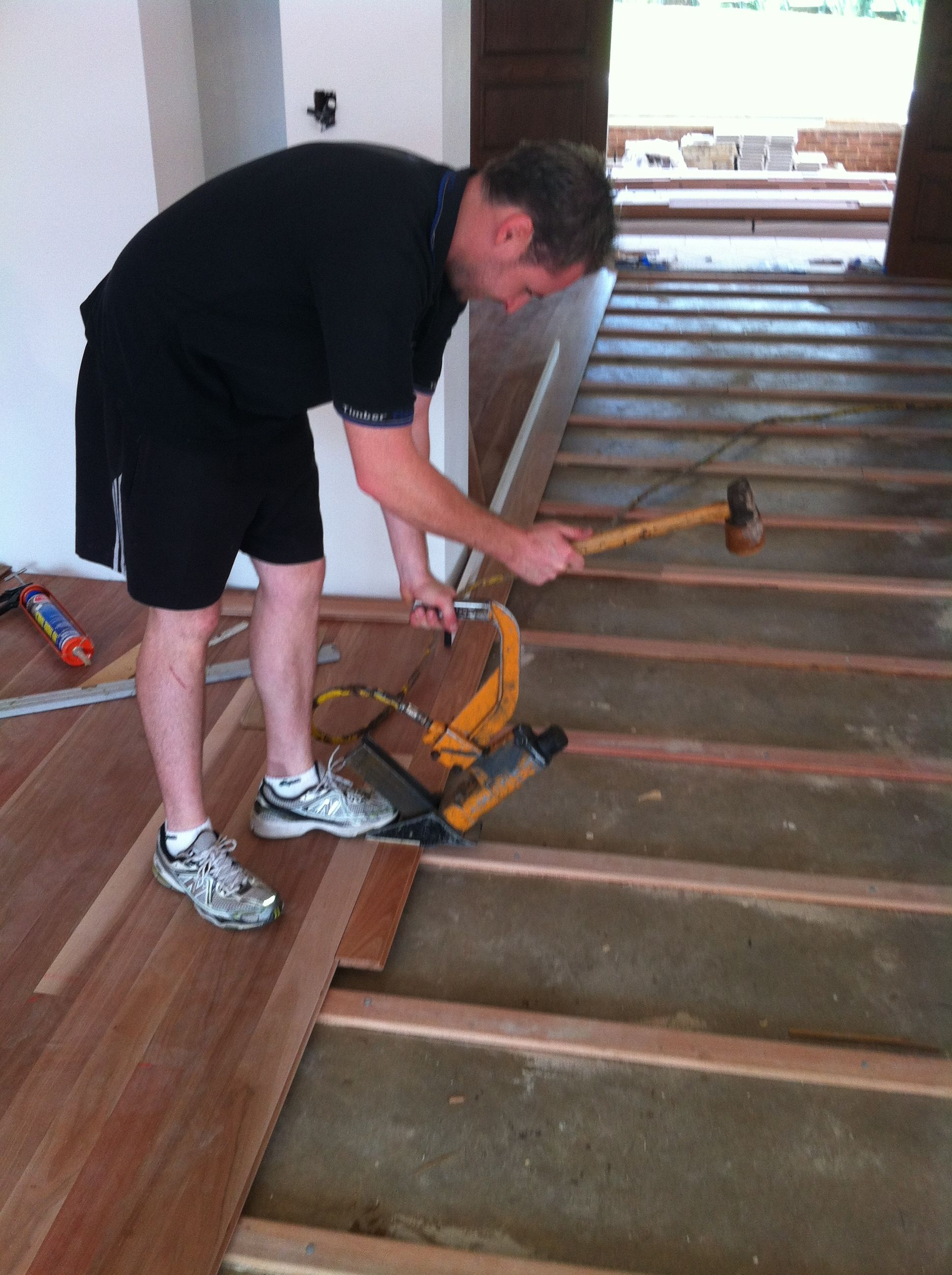 Laying A Floating Wooden Floor On Concrete Engineered Wood