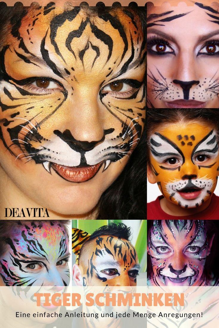 Unglaublich Gesicht Bemalen Sammlung Von Einen #tiger #schminken Ist Gar Nicht So
