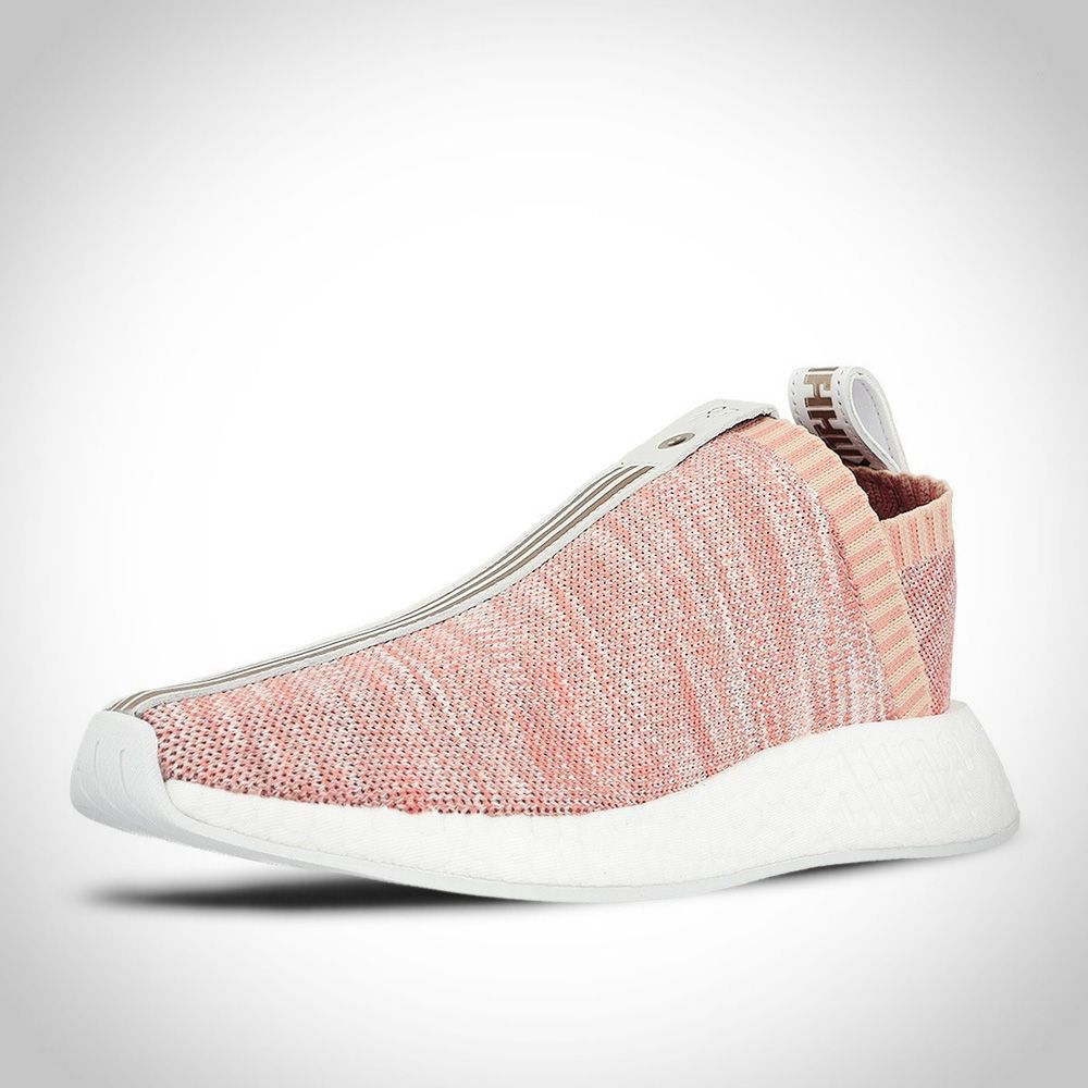 new arrival 848e4 7407f BY2596 - Adidas NMD CS2 PK Primeknit X KITH X Naked Rose Blanche Noir Rouge FemmeHomme  Chaussure Achats Bon Marché