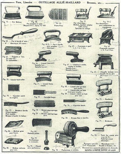 f35c38c1c7499 Antiguas herramientas de sombrerero