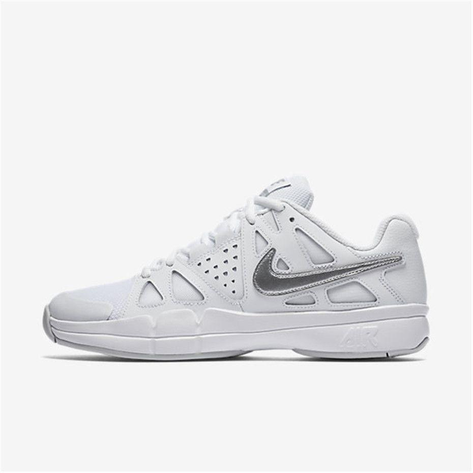 White Nike Air Vapor Advantage Tennis Mens Shoes Tennis