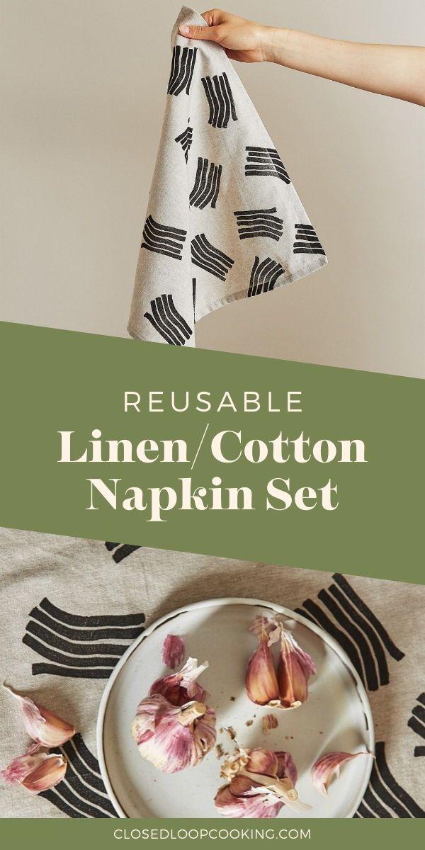 The Wave Reusable Napkin Set #papernapkins