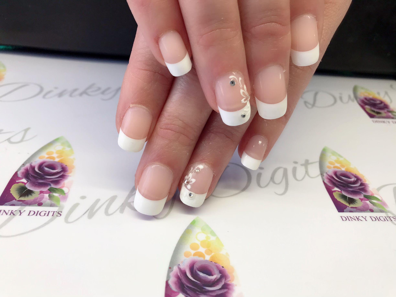 Rocking french in 2020 Bridal nails, Nail extensions