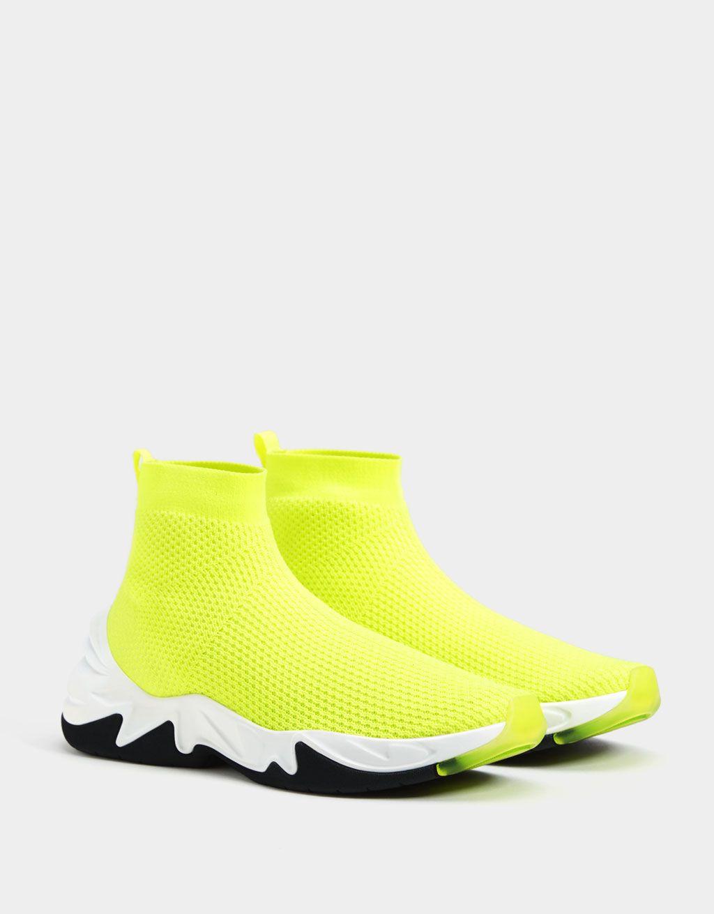 7c4dc14b0e8 Botins desportivos botas-meia com néon em 2019