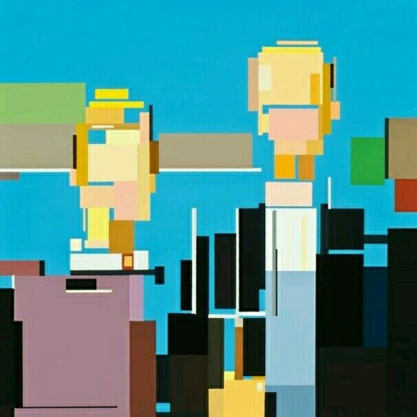 Cubed American Gothic by Adam Lister