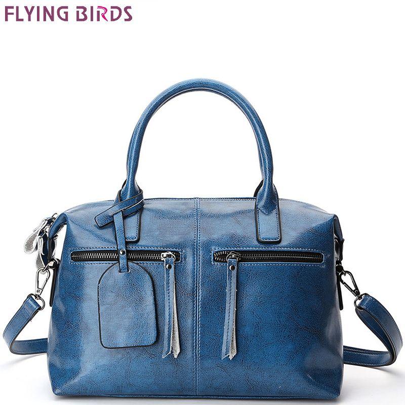35abad244174f FLYING BIRDS Bolsas Para Mujeres Famosas Marcas Bolsos de Hombro de Cuero  Genuino Bolso Del Diseñador