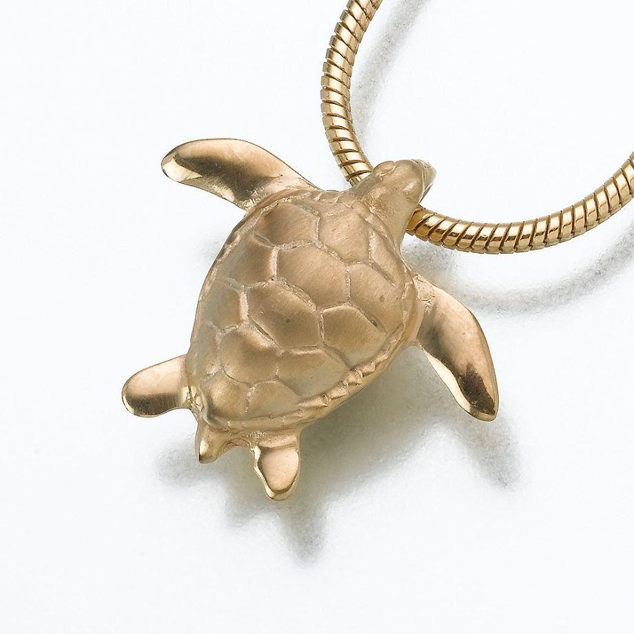 14k Peace Turtle Pendant