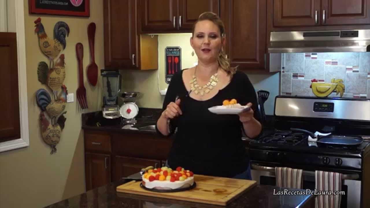 Postre sin horno facil Pie de Queso con Frutas Postres Saludables