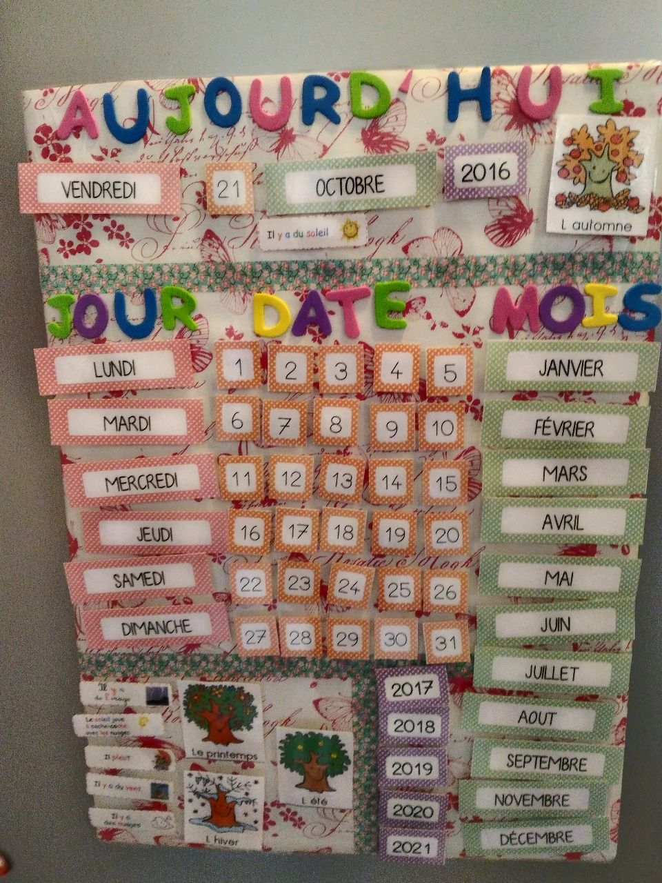 Faire Un Calendrier Calendrier Perpetuel Quiet Books Toddler Activities Diy