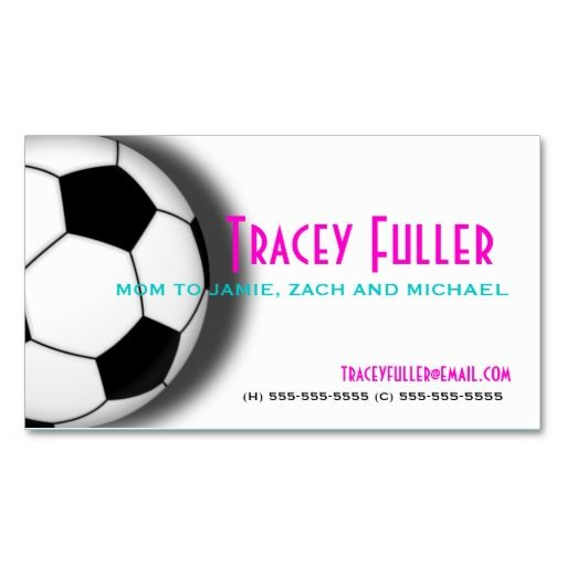 Soccer mom business card template caregiver business cards soccer mom business card template colourmoves