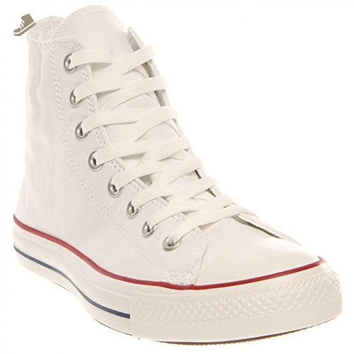 Converse Unisex Chuck Taylor All Star Core Hi Classic Sneaker, Optical White,  Men's Women's 7 Medium Classic look.
