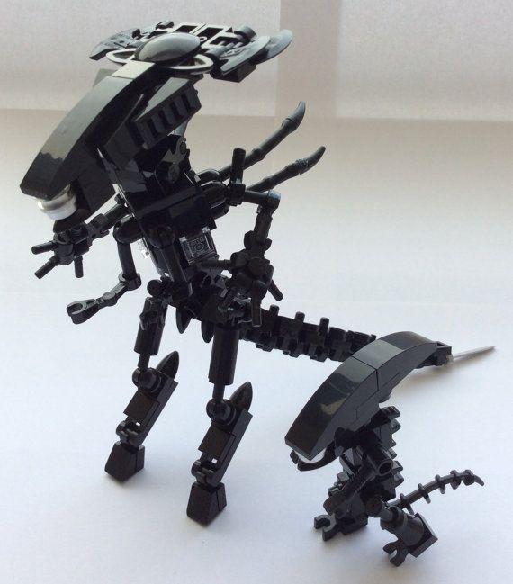 Lego Alien Queen Custom Figure Minifigure Xenomorph Minifig Pop