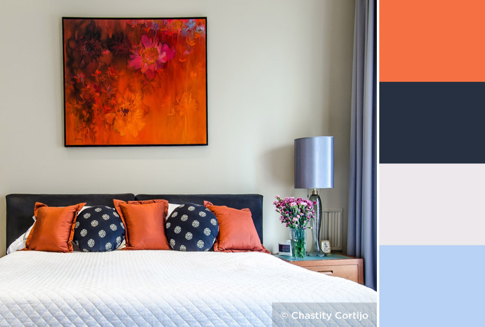 navy blue color palette bedroom Google Search
