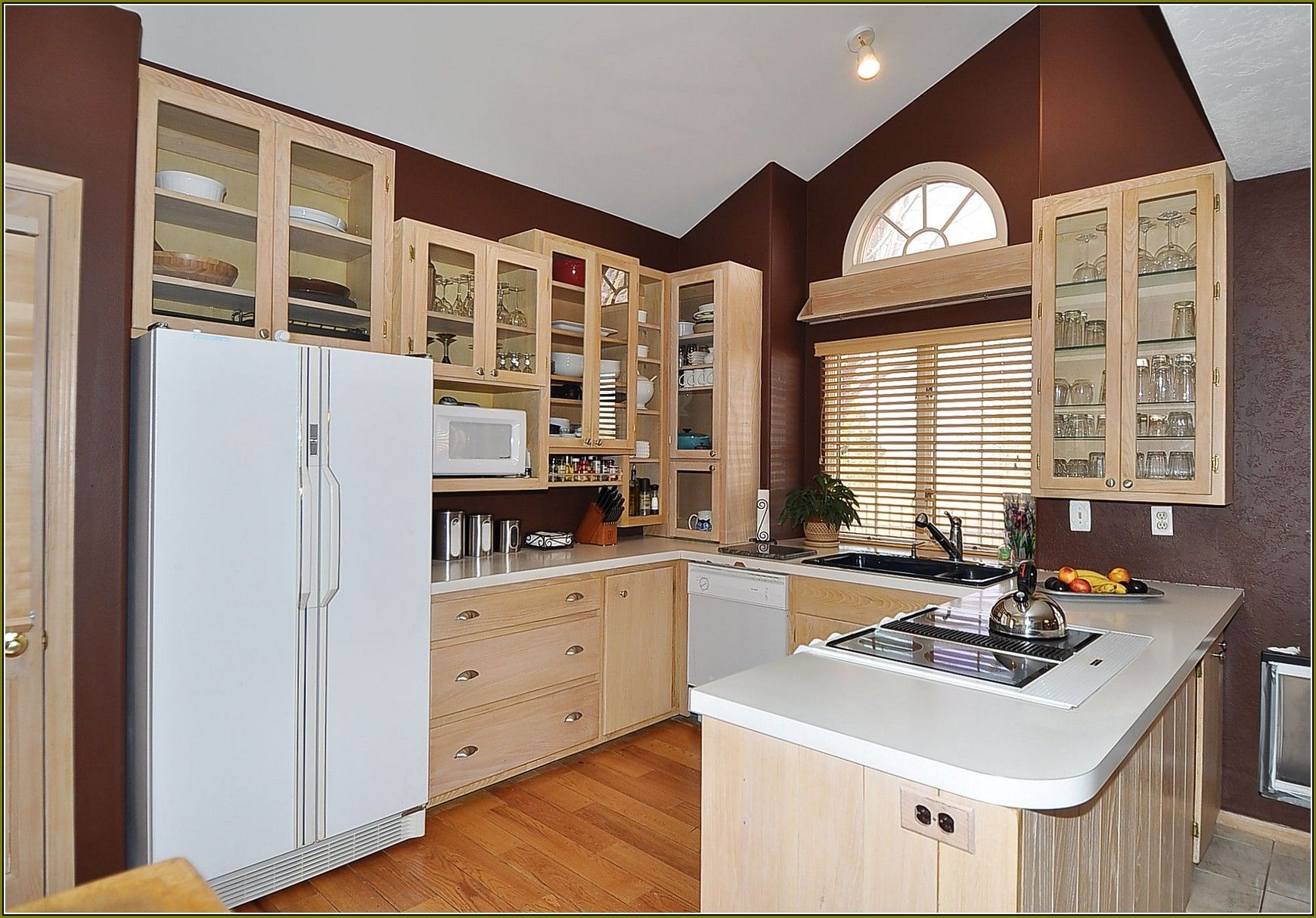 Washed Oak Kitchen Cabinets Plan White Wash After ...