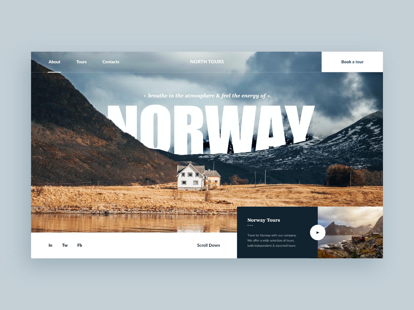Norway Tours Web Site Concept Norway Tours Tours Norway