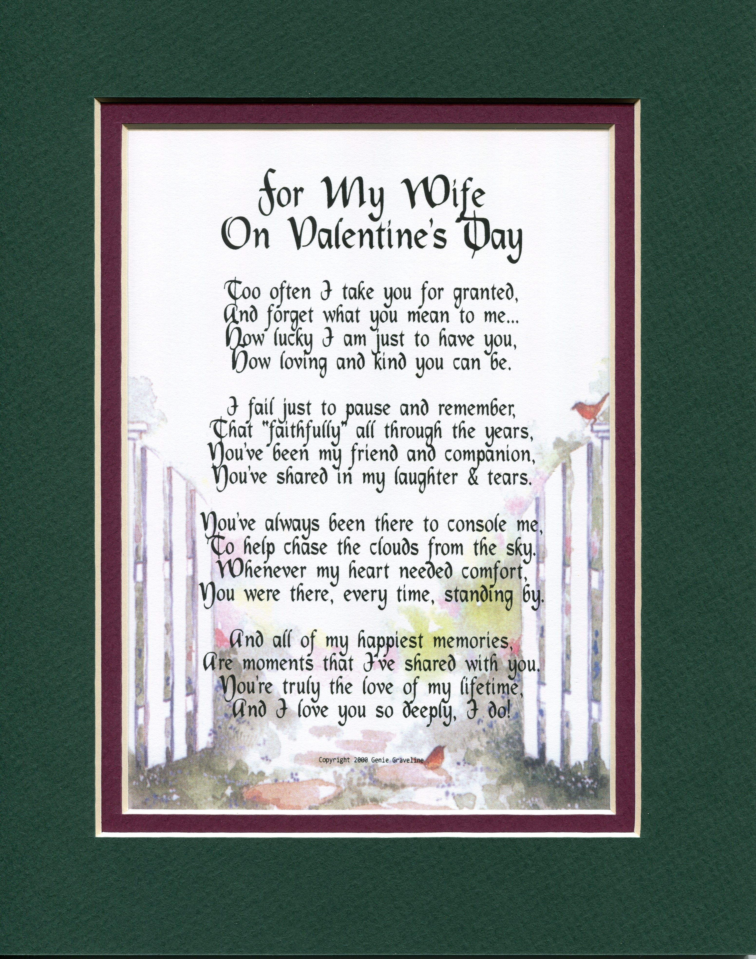 For My Wife On Valentines Day A Sentimental Gift For The One You