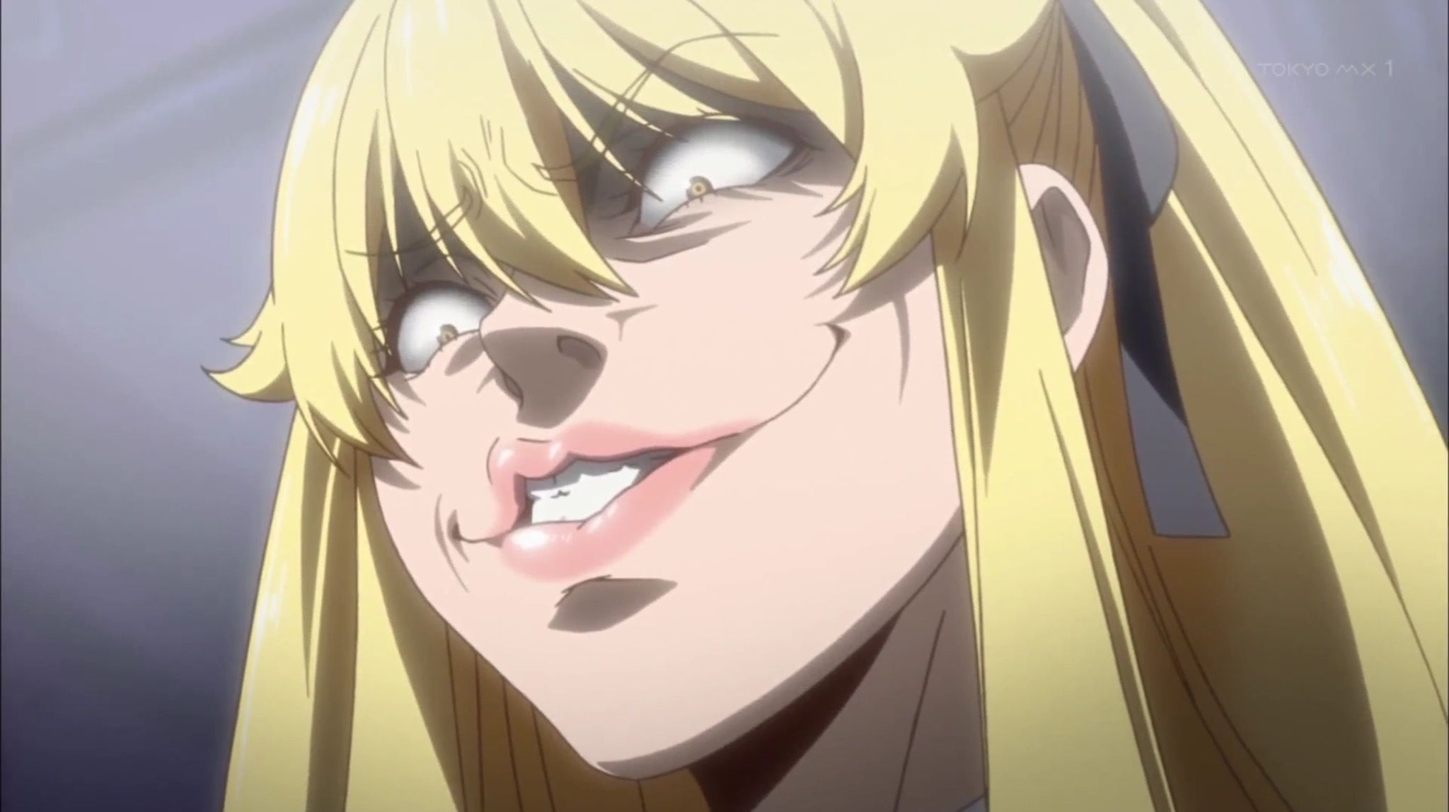 Almost Looks Like A Victory Face Of Saotome Kakegurui