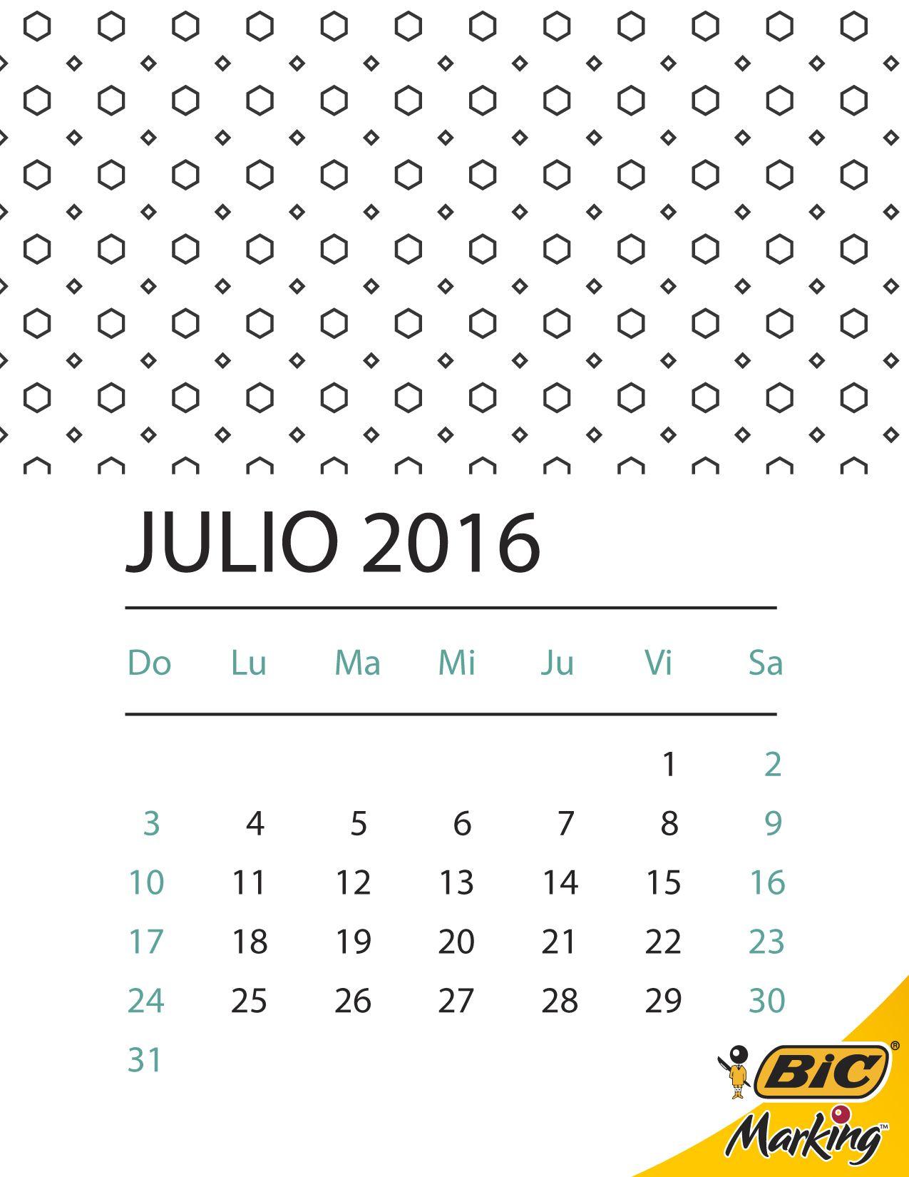 ¡Descarga el Calendario 2016 BIC completo y llena el año de color! http://bit.ly/1YQ0kNg