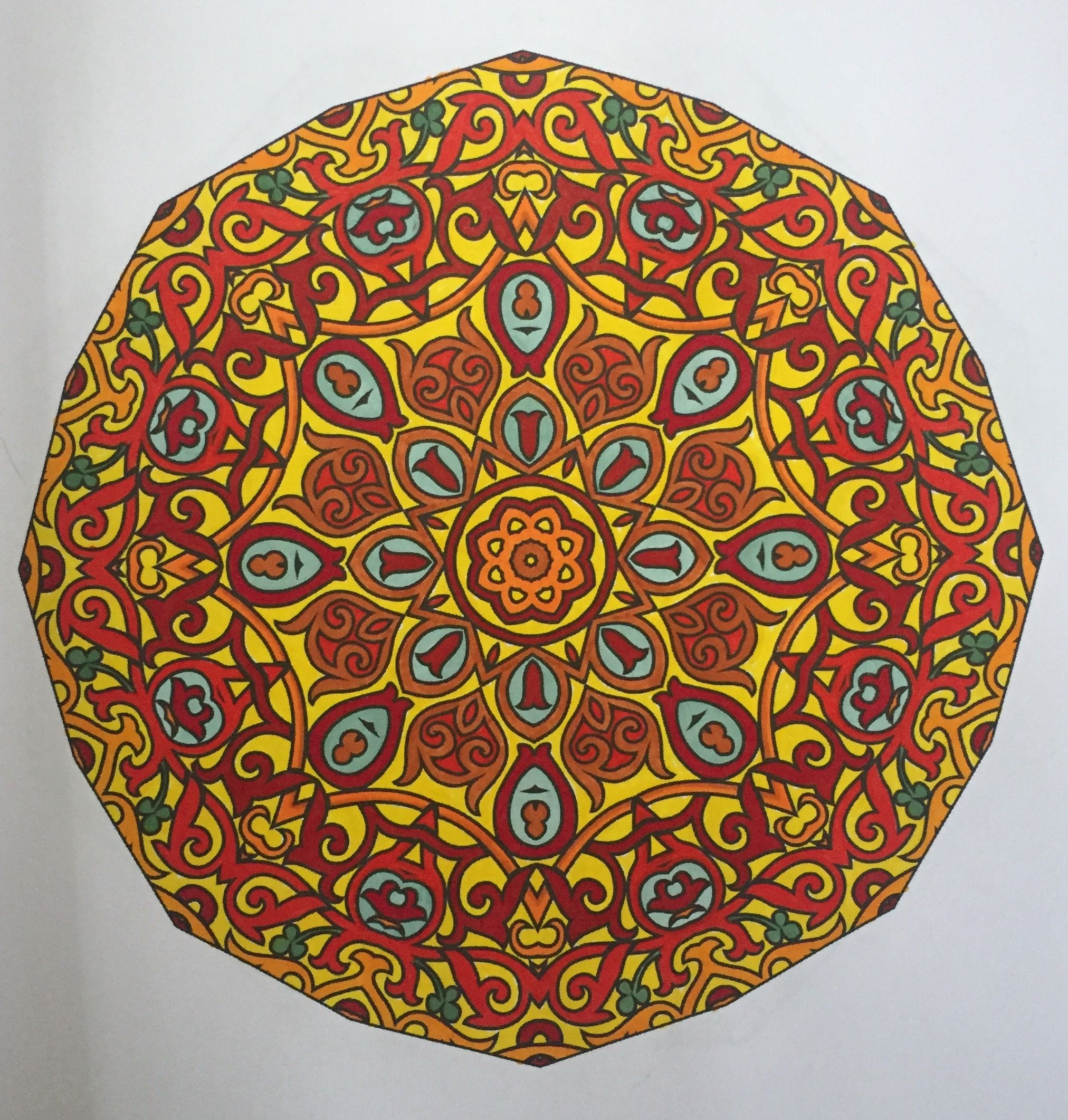 Mandala Design From Kipadoodles Adult Coloring Books Mandalas Book Volume 1