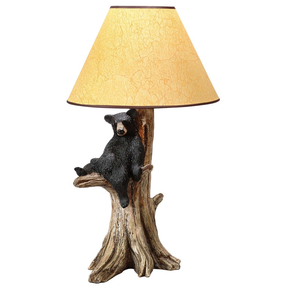 Resting black bear table lamp bears pinterest cabin rustic resting black bear table lamp mozeypictures Image collections