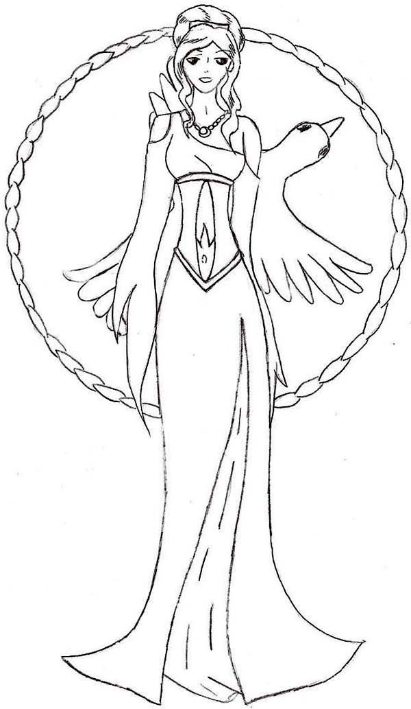 Manga Picture Of Aphrodite Coloring Page Coloring Pages Manga Pictures Pagan Goddess