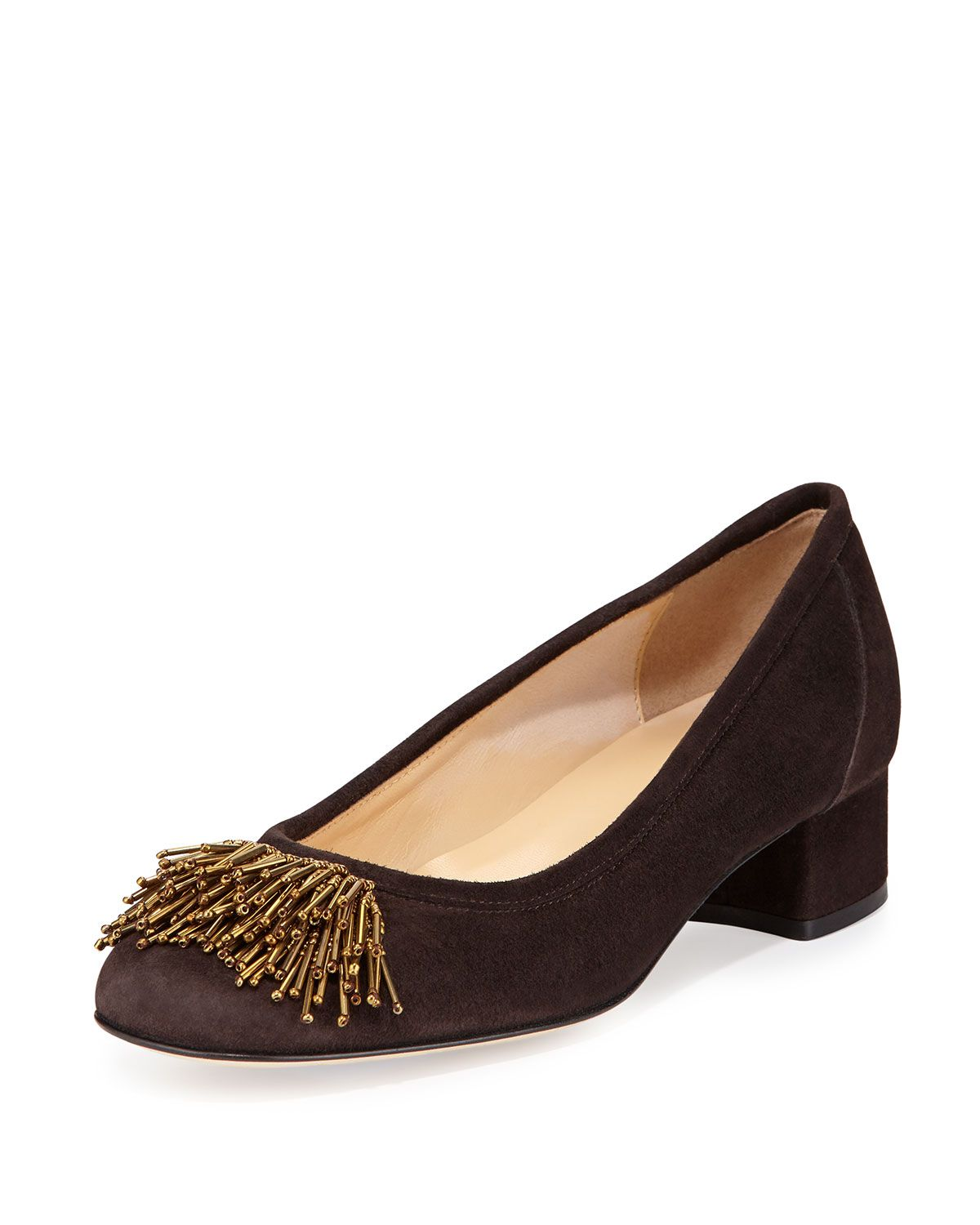 Flynn beaded fringe pump moro brown products pinterest products