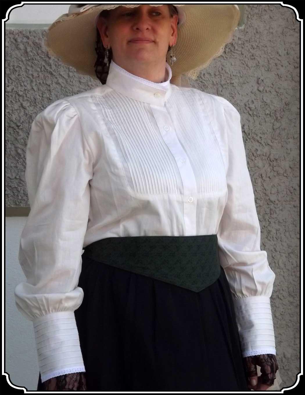 High Collar Victorian Blouse Anlis
