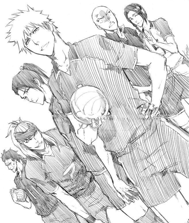 Bleach - Ichijo, Byakuya, Renji, Kenpachi, Yumichika and Ikkaku - Haikyuu!!