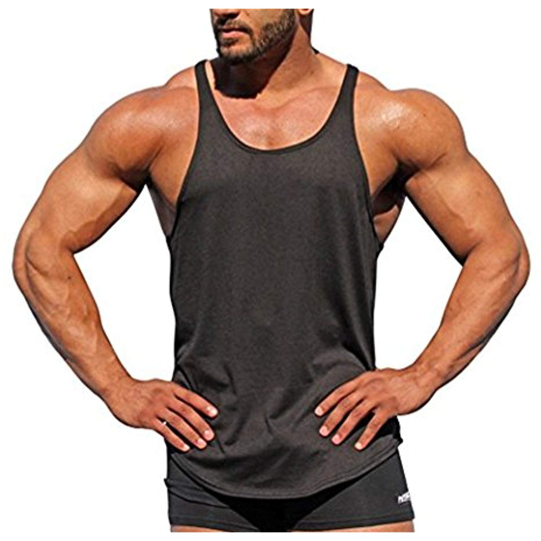 Gym Cool Men Muscle Sleeveless Shirt Tank Top Bodybuilding Sport Fitness Vest Uk