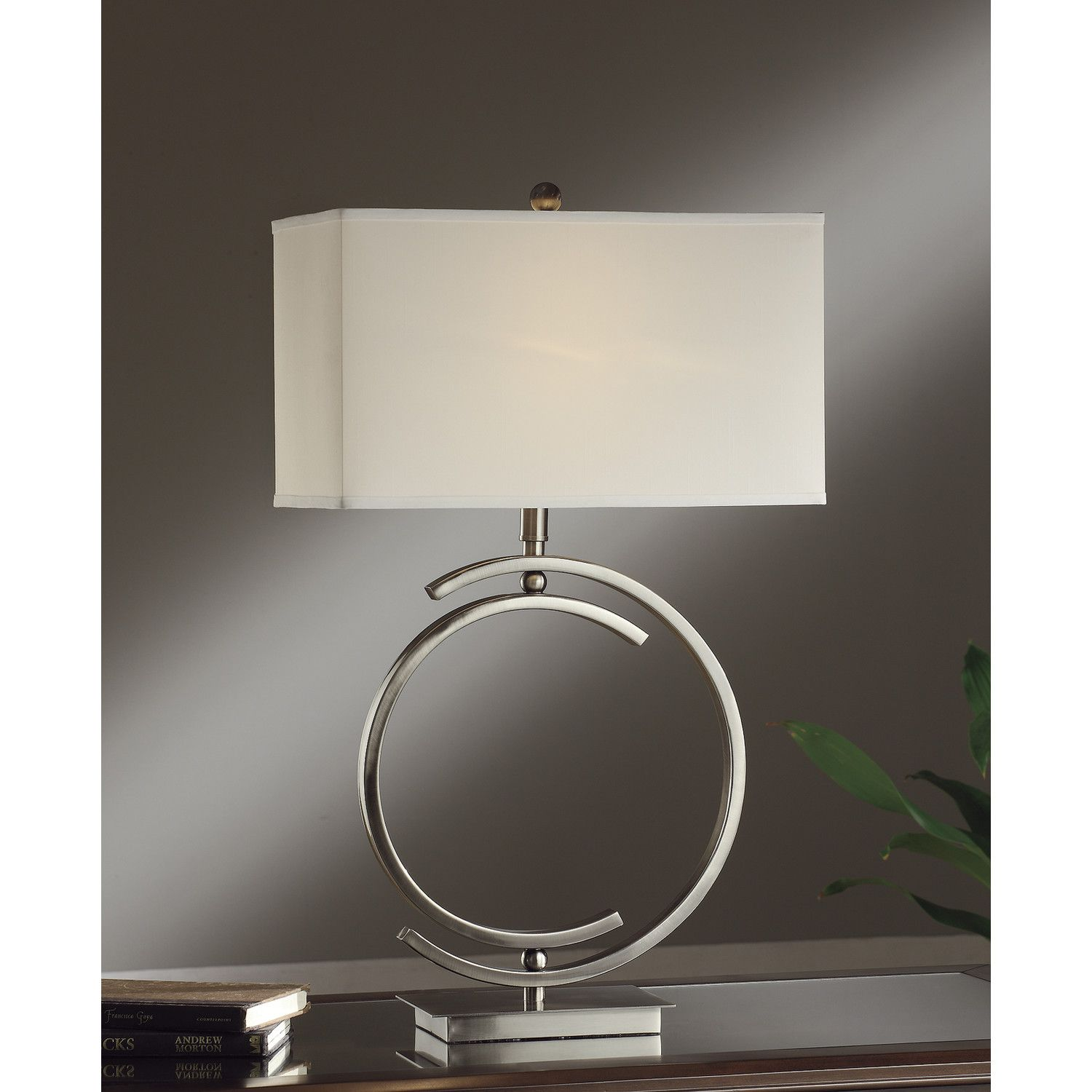 Crestview collection knox 1 light 31 h table lamp with crestview collection knox 1 light 31 h table lamp with rectangular shade geotapseo Gallery