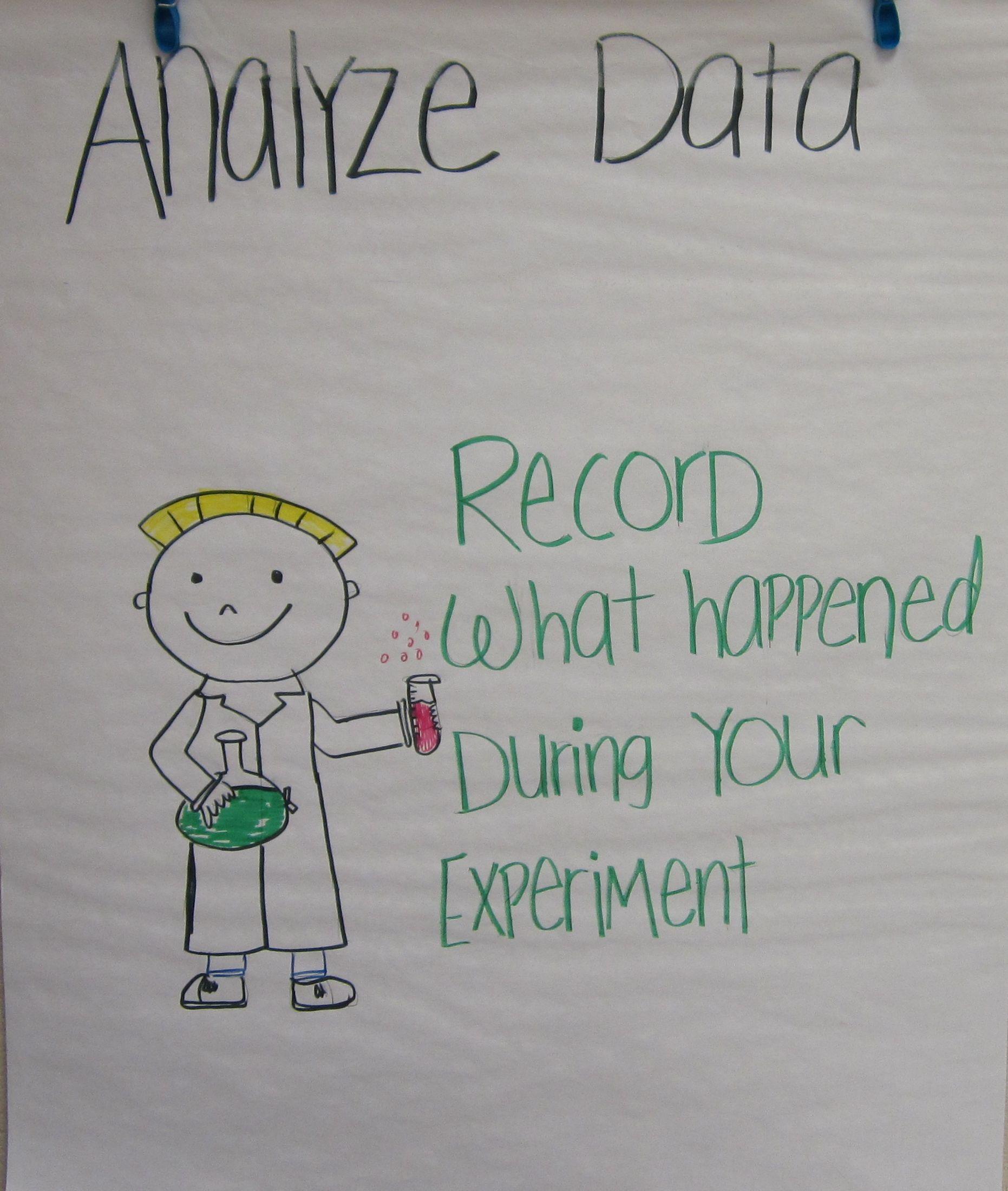Scientific Method anchor chartAnalyze Data Kindergarten
