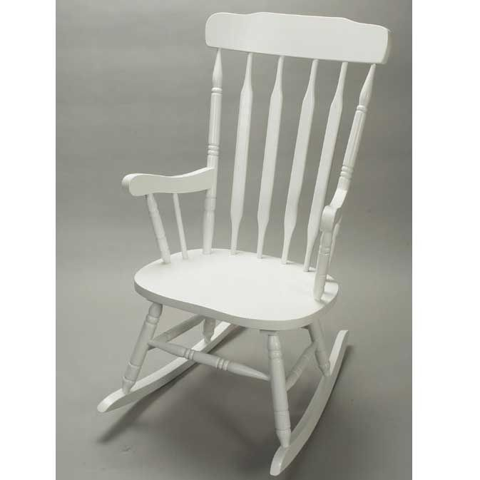 white wood rocking chair nursery reclining garden chairs morrisons wooden plus ottoman and blue pillows