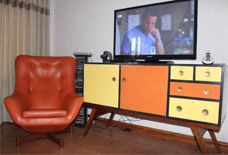 retro 60's sideboard  chair  hillcrest  gumtree south