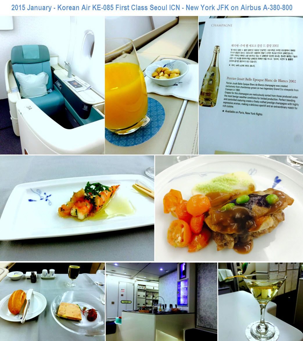 2015 January - Korean Air KE-085 First Class Seoul ICN - New York ...