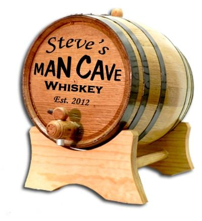 Personalized Man Cave Mini Oak Barrel With Liquor Choice In 2018