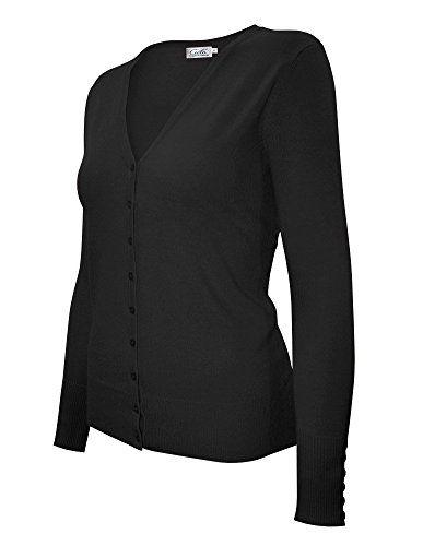 CIELO Women s Button Down Long Sleeve Basic Soft Knit Cardigan Sweater 1f1f1f225
