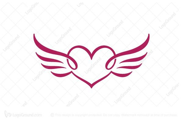 logo for sale heart wings logo unique calligraphy style winged rh pinterest ca wing chun logos wing logistics llc