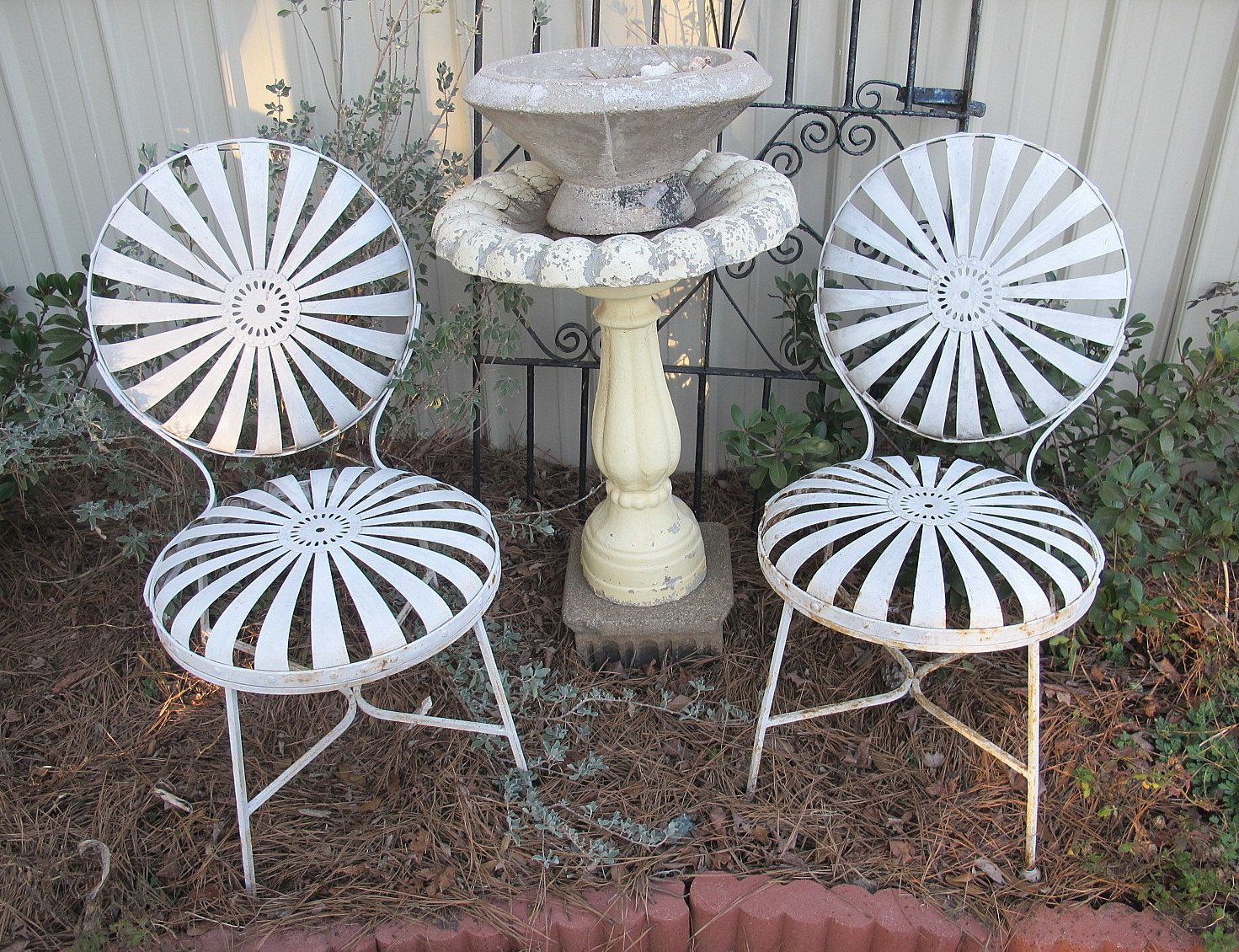 Vintage French Patio Chairs