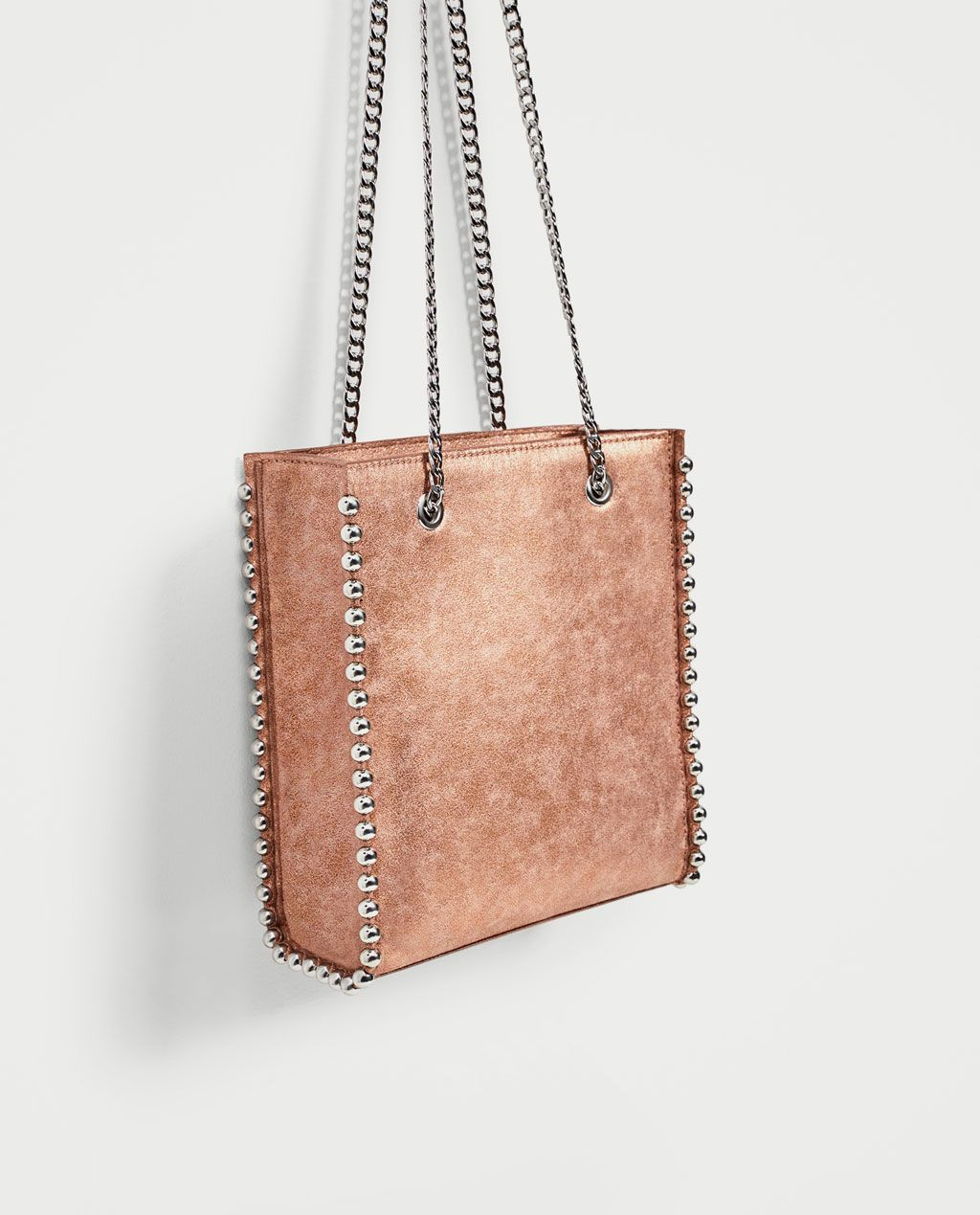 517ebe0d1e16 Image 1 of MINI STUDDED TOTE from Zara