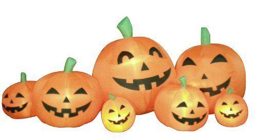 $6999-$8999 8 Foot Pumpkin Family Lighted Inflatable Yard - halloween inflatable decorations