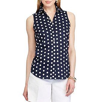 Chaps® Non-Iron Polka-Dot Cotton Shirt
