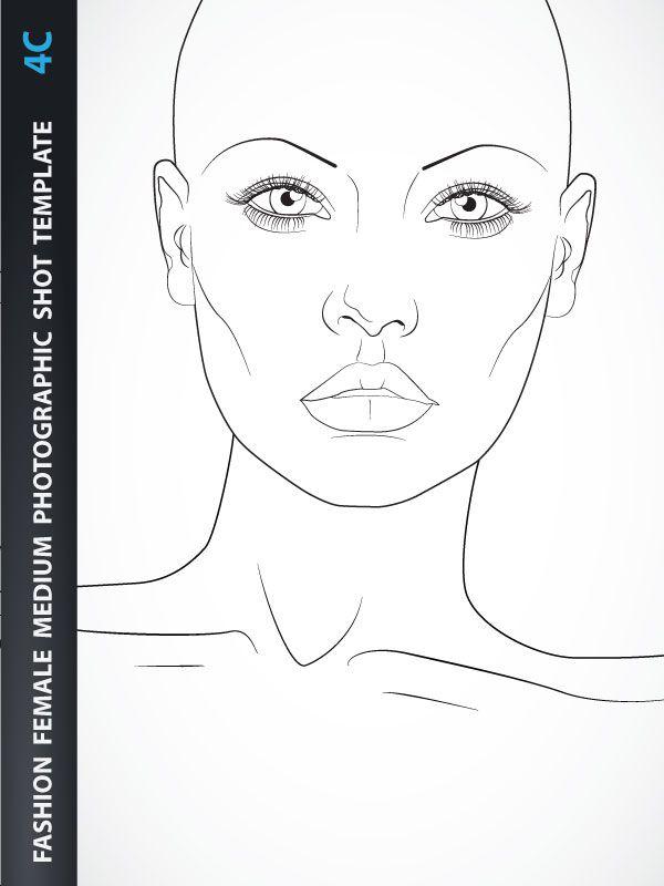 Female Fashion Illustration Template 2j