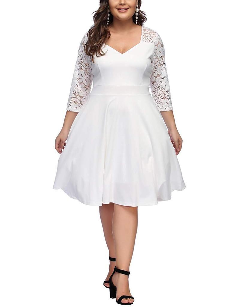 Plusmill Com Domain Name For Sale Dan Com Evening Dresses Plus Size Plus Size Retro Dresses White Dresses For Women [ 1024 x 788 Pixel ]
